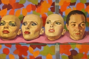 Self Portrait with Mannequin Heads